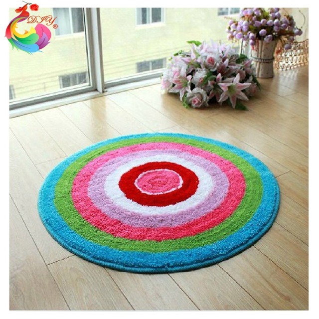 Diy Mat Needlework Kit Unfinished Crocheting Rug Yarn Cushion Embroidery Carpet Kits Floor