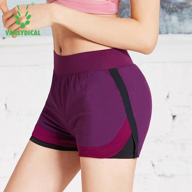 <+>  Женские летние спортивные шорты для бега 2 в 1 Yoga Shorts Упругая талия Бег Тренировочная спортивна ✔