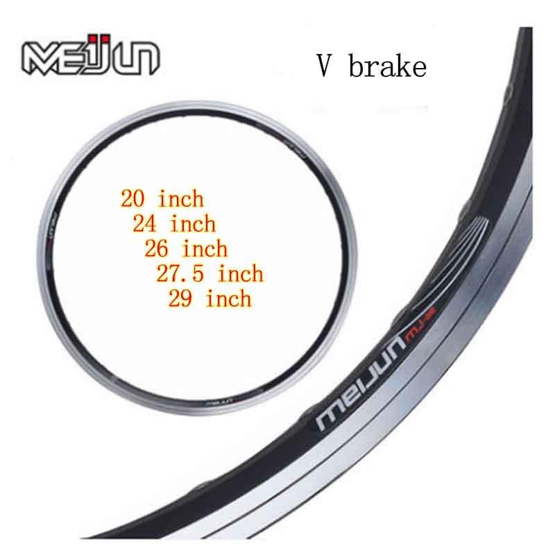 MEIJUN20 24 26 27.5 29 inch 28H 32 H 36H V brake double aluminum bicycle rim цена