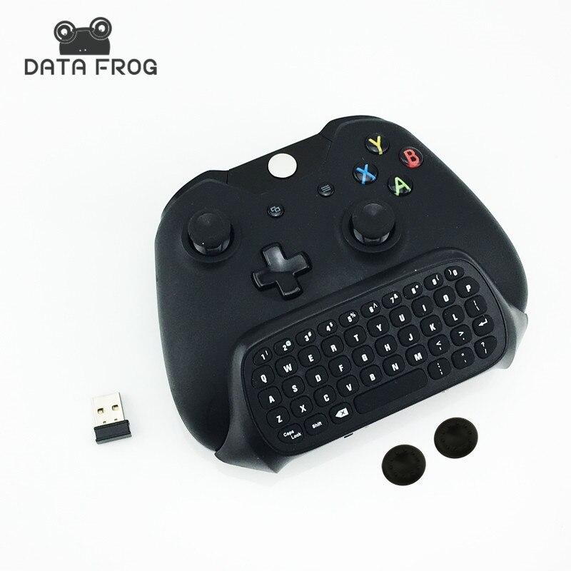 Nieuwe 2.4G Mini Wireless Chatpad Bericht Toetsenbord Voor Microsoft Xbox Een Controller Met 3.5 Audio Jack Voor Xbox Een 3.5 Toetsenbord