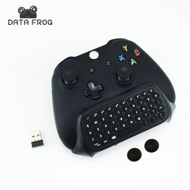 Nueva 2.4g mini inalámbrico chatpad mensaje teclado para Microsoft Xbox un controlador con 3.5 audio para Xbox One 3.5 teclado