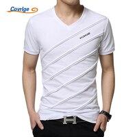 Covrlge 2018 Summer Men Short Sleeve T Shirt Men S V Neck Plus Size 3XL 4XL