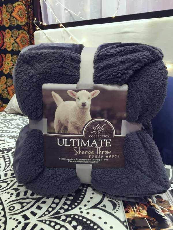 بطانية سادة من المخمل والفانيلا للشتاء من جلد الغنم كشمير سميك مزدوج 150*200 سنتيمتر/200*230 سنتيمتر