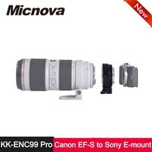 Micnova KK-ENC99 Pro Lens Adapter for Canon EF EF-S Mount Lens to Sony E-mount Camera A7RII NEX 5 3 5N C3 5R F3 7 6 VG 10 20 30 micnova kk enc99 pro lens adapter for canon ef ef s mount lens to sony e mount camera a7rii nex 5 3 5n c3 5r f3 7 6 vg 10 20 30