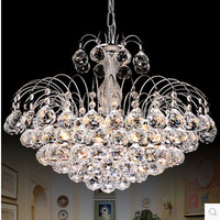 ZYY European luxury fountain crystal chandelier bedroom study room bar bar chandelier round chandelier
