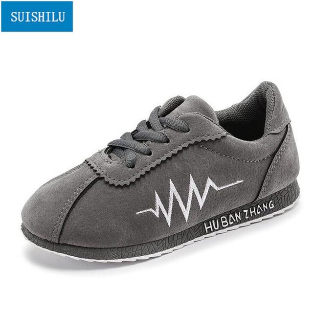 4e5b2f25b3f Lightning symbol grey student shoes ne w kids sneakers Spring Autumn high  quality baby shoes cool girls boys children shoes N92