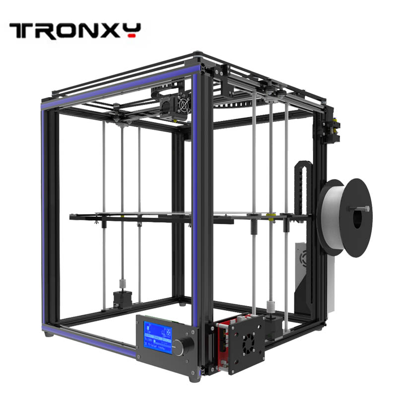 Tronxy 3D Printer metal frame Version pulley Guide rail plus DIY Kit Kossel pulley Large Printing Size 3D Metal Printer metal frame linear guide rail for xzy axix high quality precision prusa i3 plus creality 3d cr 10 400 400 3d printer diy kit