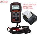 FOXWELL BT705 12 В Анализатор Автомобильный Аккумулятор и 24 В Duty Truck Battery Analyzer Проверки Работоспособности Аккумулятора с Bluetooth Принтер