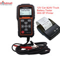 FOXWELL BT705 12V Car Battery Analyzer & 24V Duty Truck Battery Analyzer Check Battery Health with Bluetooth Printer