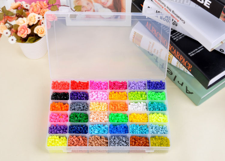 36 Color Perler Beads 12000pcs box set of 5mm Hama Beads food grade EVA Fuse beads for C ...