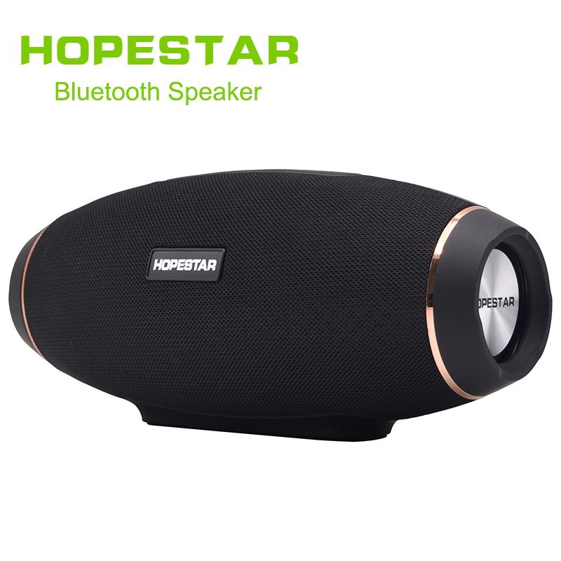 HOPESTAR Wireless portable Bluetooth 2.1 Speaker 20W Waterproof Outdoor Bass Effect with Power Bank USB AUX Mobile Computer TV wireless bluetooth speaker led audio portable mini subwoofer