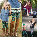 Fashion Women Girl Casual Printing Leggings Skinny Slim Pencil Pants Trousers Leggings Family Matching Outfits