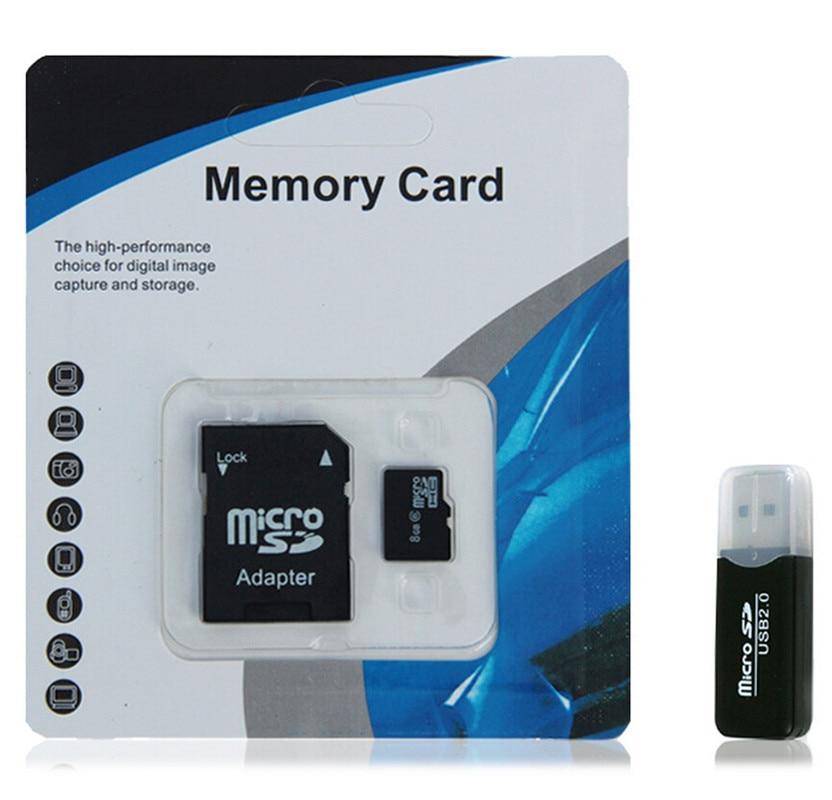 Sıcak satmak micro sd kart hafıza kartı 64 GB sınıf 10 micro orijinal tf sd Cep telefonu için mp3 micro sd kartlar Ücretsiz Adaptörü + USB Okuyucu