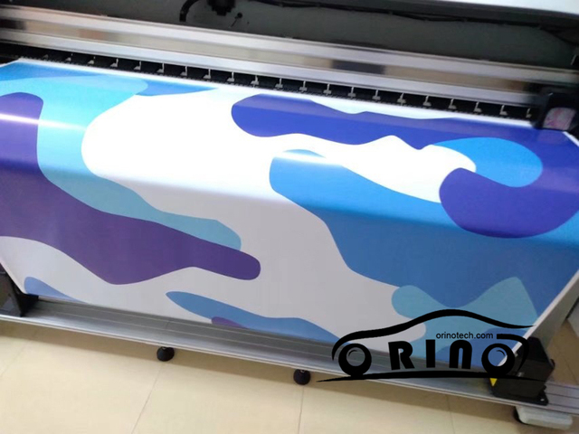 Blue Jumbo Camo Car Scooter Vinyl Wrap Sticker Camouflage Printed Graphics Motorcycle Truck Body Wrapping Covers
