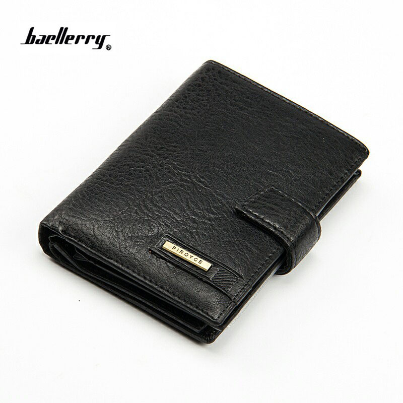 2018 brand baellerry men's wallet high quality hasp passport purse for male New arrival vintage card holder with coin pocket baellerry ladies purse hasp bright skin long thin wax leather wallet women s functional card holder passport cover phone pocket