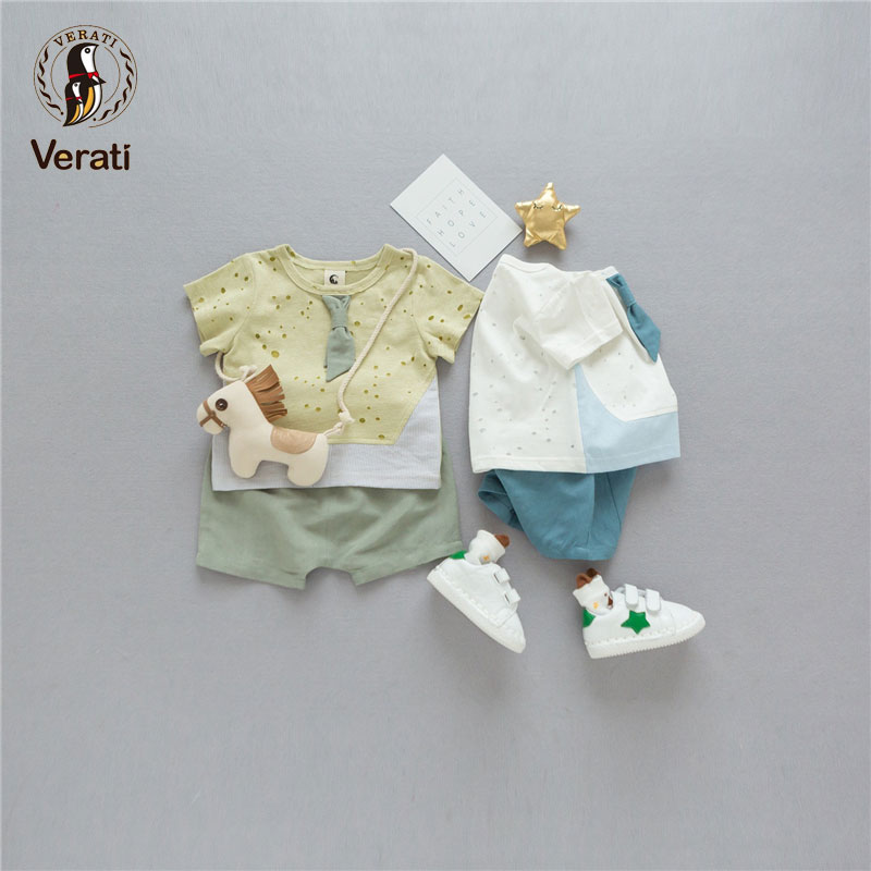 VERATI 2018 Summer New 0-2 Years Old Cartoon Zebra Childrens Suit Cotton Short Sleeve Baby Suit Baby Boy Clothes Baby Sets V098 ...