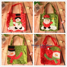 New Year Santa Claus Gift Bags For Candy Bags Deer Elk Snowman Design Pendant Chrismas Tree Decoration Xmas Shopping Present Bag
