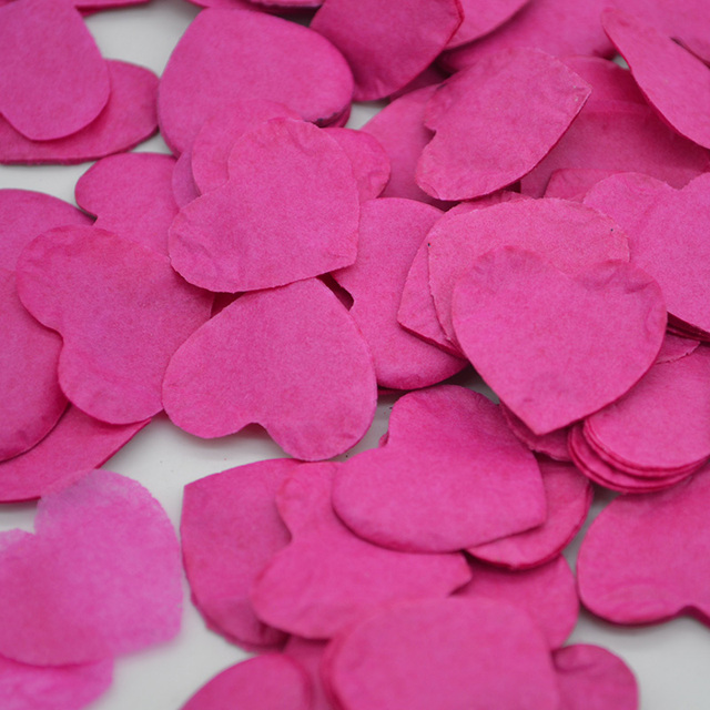 1000pcs/Pack Multicolor Heart Shape Pink Blue Peach Paper Confetti Party Wedding Table Decoration Birthday Party Decorative 10g