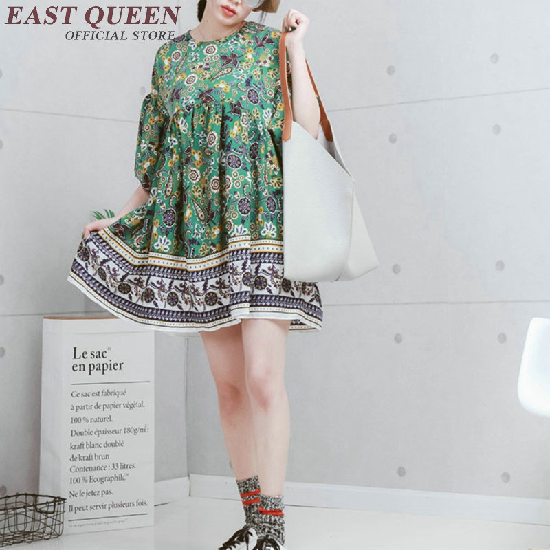 Boho clothing chic dresses women boho hippie dress female hippie bohemian style dresses NN0590 Y