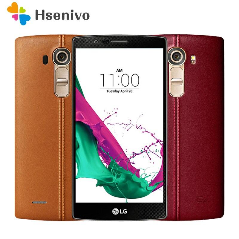 Original Débloqué LG G4 H815 H810 H818 Hexa Core Android 5.1 3 gb + 32 gb 5.5 pouce Téléphone Portable multicolore couverture rénové