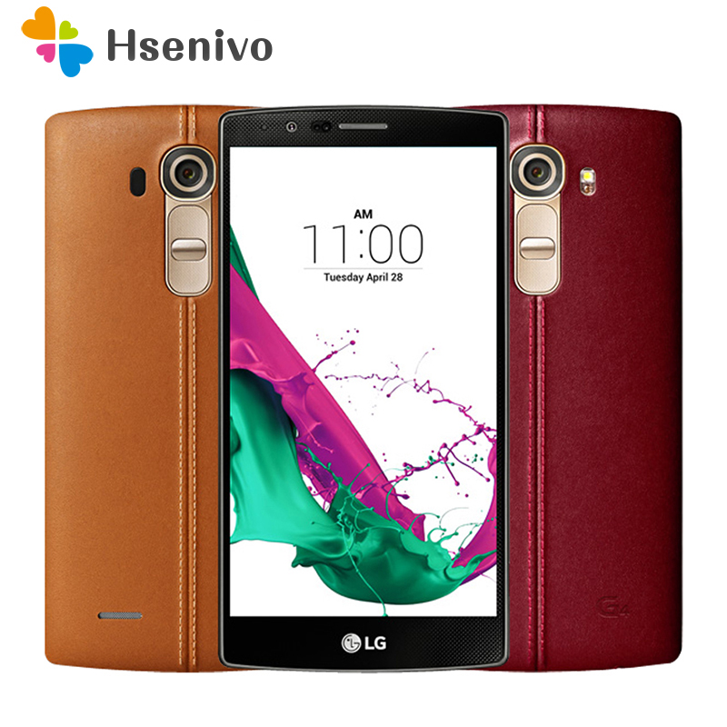 Original Unlocked LG G4 H815 H810 H818 Hexa Core Android 5.1 3GB+32GB 5.5 Inch Cell Phone Multi-color Cover Refurbished