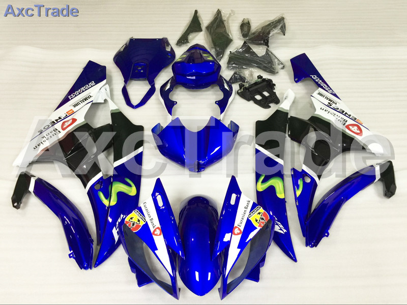 Motorcycle Fairings Kits For Yamaha YZF600 YZF 600 R6 YZF-R6 2006 2007 06 07 ABS Injection Fairing Bodywork Kit Blue White A888 injection molding bodywork fairings set for yamaha r6 2008 2014 blue white black full fairing kit yzf r6 08 09 14 zb77