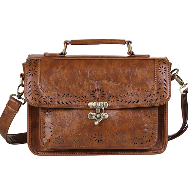 Women's Brown Vintage Leather Briefcase Luxury Women Document Briefcase Durable Executive Briefcase Small Lawyer Postman Bag