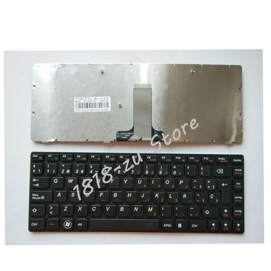 YALUZU Spanish Laptop <font><b>keyboard</b></font> for <font><b>LENOVO</b></font> G480 G480A G485 G485A Z380 <font><b>Z480</b></font> Z485 G490AT G490 B480 B485 G410 G405 black <font><b>keyboard</b></font> SP image