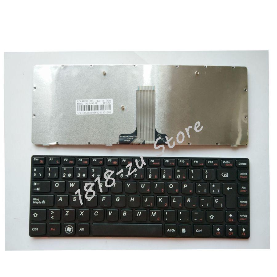 YALUZU Spanish Laptop keyboard for LENOVO G480 G480A G485 G485A Z380 Z480 Z485 G490AT G490 B480 B485 G410 G405 black keyboard SP 100% brand new g480 g480a laptop fan for lenovo g480m g485 cooler g580 g585 cpu fan genuine g480 g480a laptop cpu cooling fan