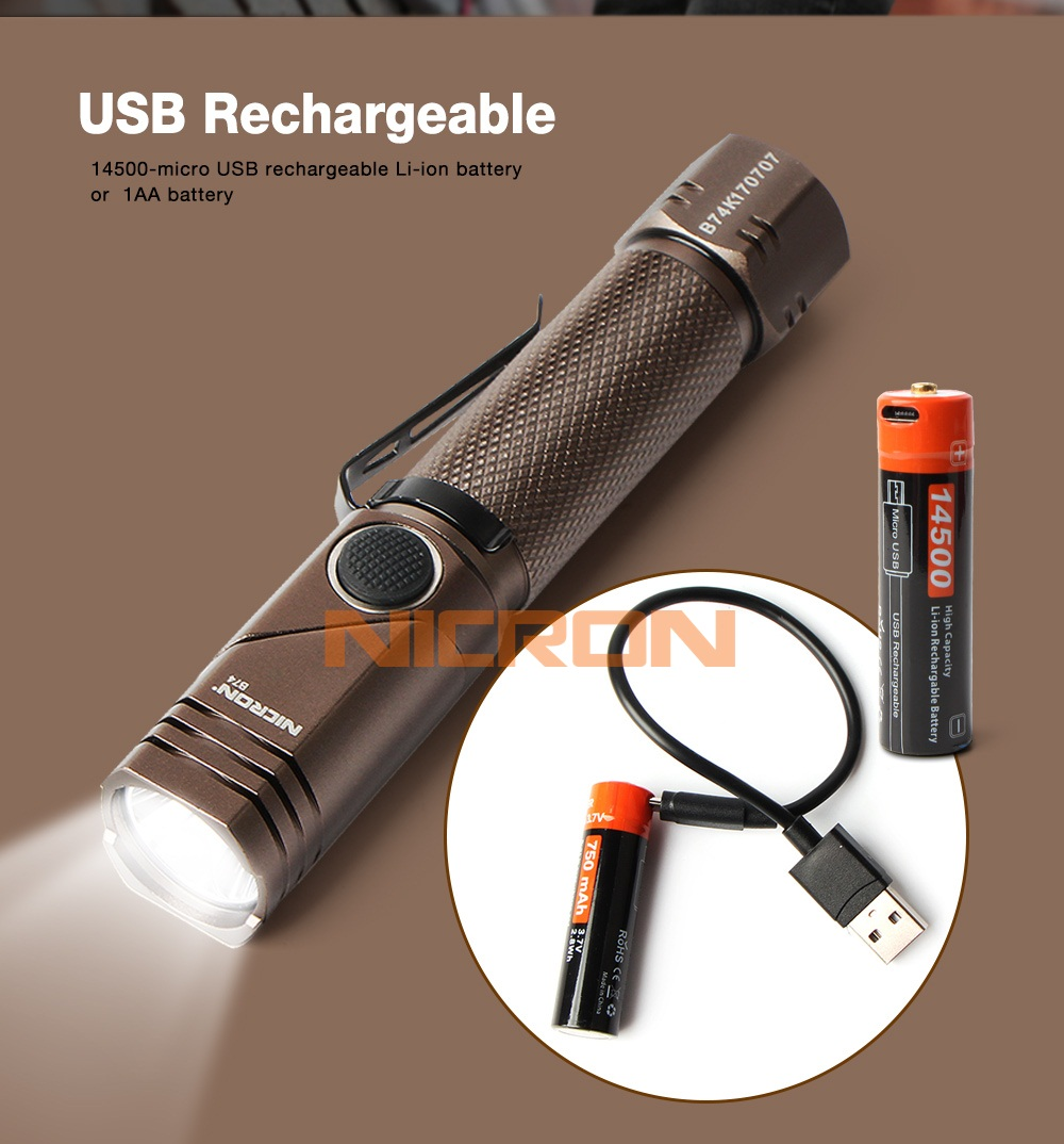 08 USB charging flashlight