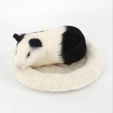 Pet Carrier Hamster Plush Bag Rat Hedgehog Chinchilla Ferret Carrier Soft Fleece Guinea Pig Bed Puppy Cage Mat Sleeping Bed