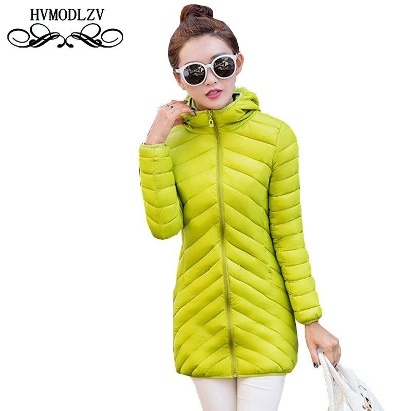 2017 Autumn Winter Black Women Cotton Jacket Light Tight Warm With Hood Cotton Jacket Large Size