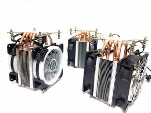 Image 3 - LANSHUO HOT CPU พัดลมเงียบ Cooler สำหรับ Intel X79 LGA2011 โปรเซสเซอร์ 4 ท่อความร้อน Cooling หม้อน้ำ CPU 2 พัดลม