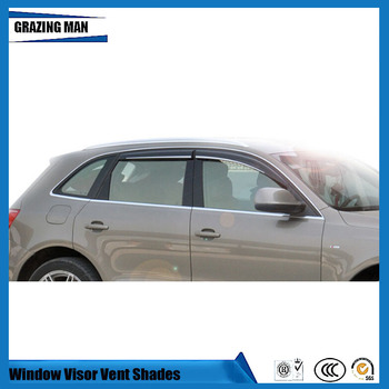 Sun visor Car accessories Window Visor Vent Shades Sun Rain Deflector Guard 4PCS/SET for Q3 Q5