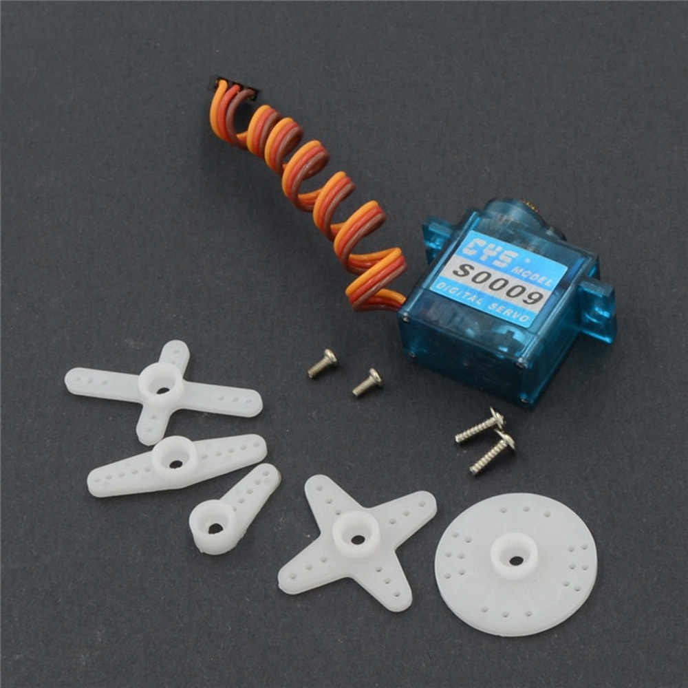CYS-S0009 Tiny Analoge Steering Servo voor RC Auto Rock Crawler Truck Boot Vliegtuig Helikopter RC Servo
