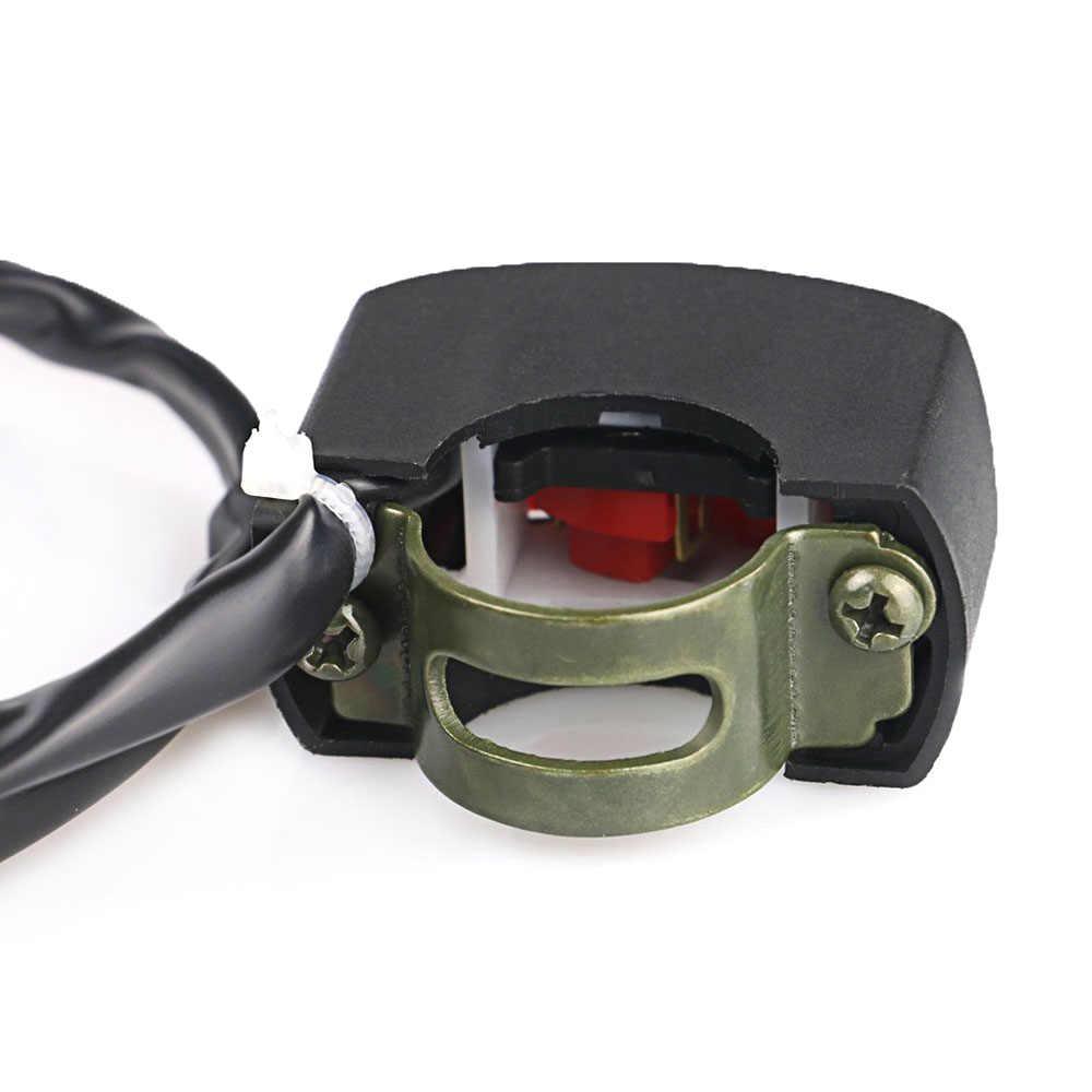 Universal Motor Switch Stang Sepeda Motor Flameout Switch On Off Tombol untuk Moto Motor Sepeda ATV DC12V/10A Hitam
