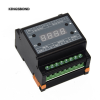 DMX303 3channels high voltage dimmer,AC90 240V Power supply 3 channels 0 10V output signal,DMX dimmer controller for LED strip