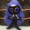 KARL figura Encanto Del bolso azul Gemas ojo del Monstruo bolsa de error de largo pelo Pompón de mano encanto Llavero llaveros Llavero de piel de moda