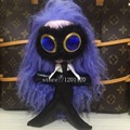 KARL figure bag Charm blue Gems eye Monster bag bug long hair Pompom tote charm Keychain fur Key Ring fashion Key holders