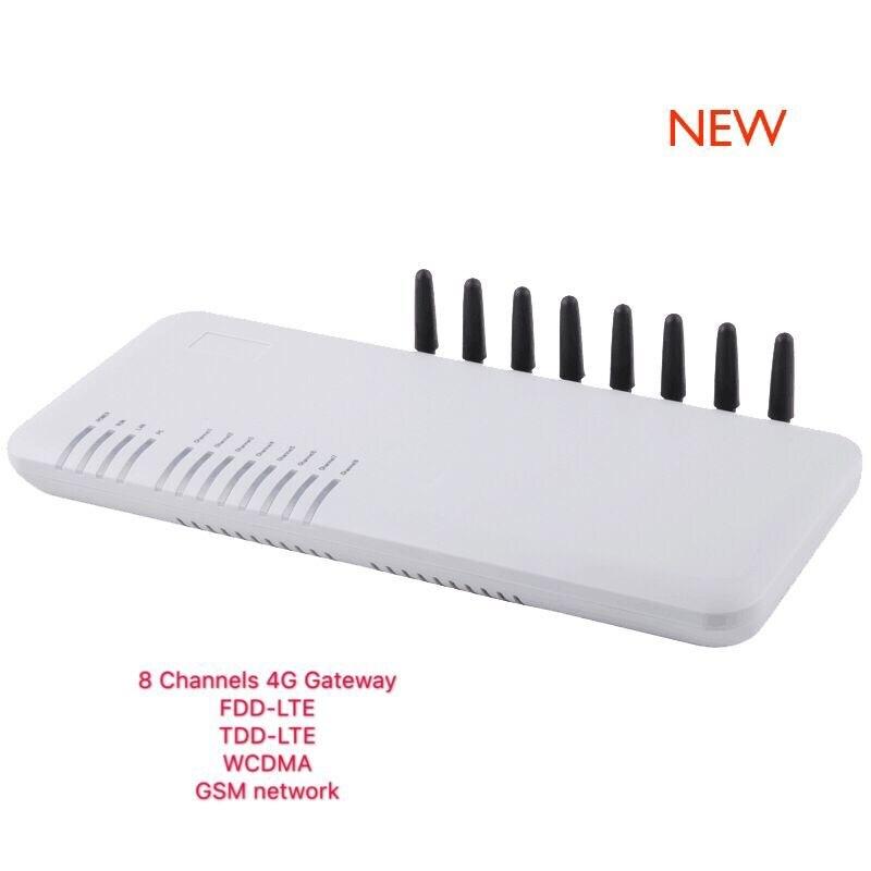 New Original DBL GoIP 8 4G 8 ports LTE WCDMA GSM gateway sip IP LTE Gateway