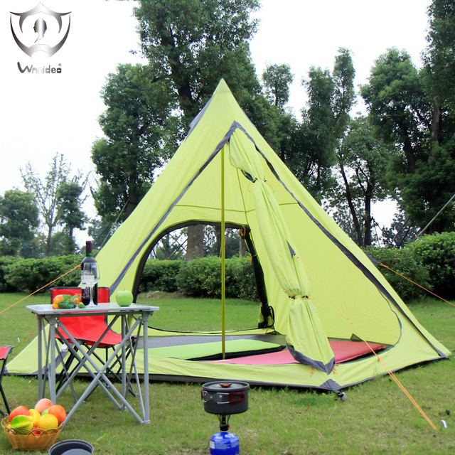 3-4 person 4-season outdoor tent  Rainproof speed tents Sun Beach camping Hiking tent 210 t polyester PU3000mm ZS6-2604