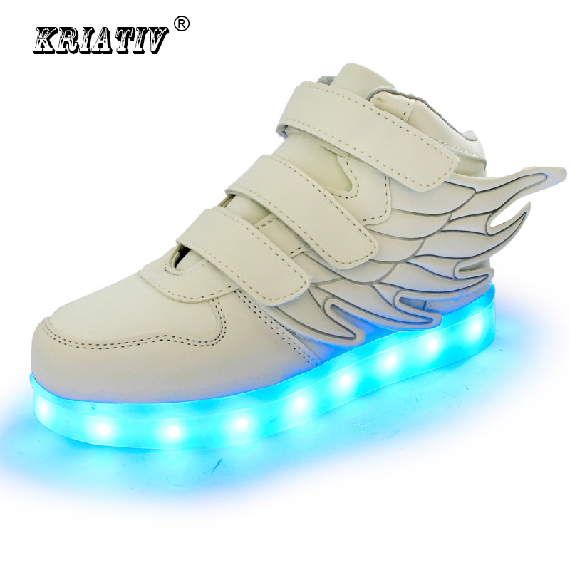 KRIATIV children shoes glowing sneakers led slippers basket led kids light up shoes infant luminous sneakers boy girl