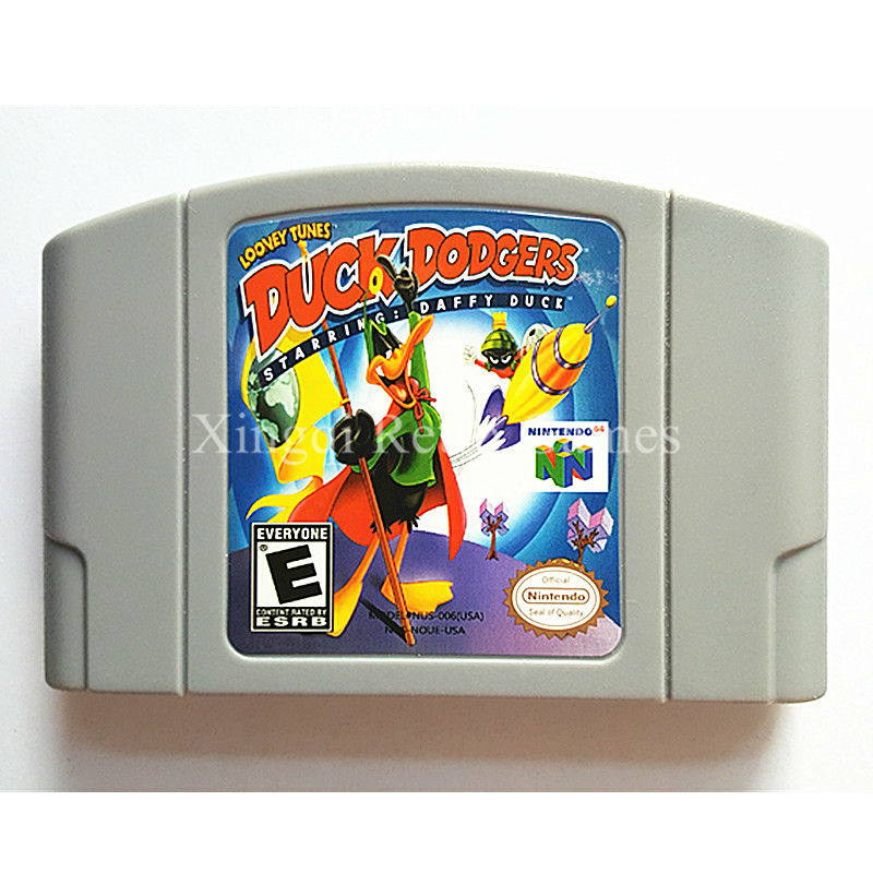 Nintendo N64 Game Looney Toons Duck Dodgers Video Game Cartridge Console Card English Language US Version
