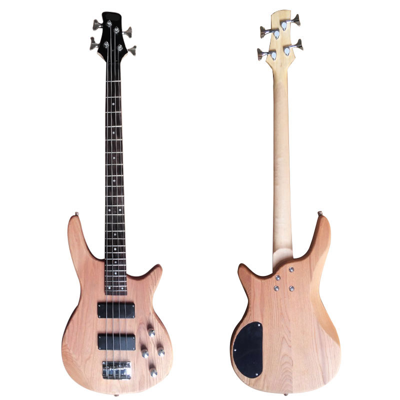 Yuker 39'' Bass Guitar Retro 24 Frets 4 String Guitarra Electrica Guitars Elm Body Rosewood Fingerboard Guitar Bass For Beginner yuker 39 inch electric guitar 6 strings 22 frets high quality mahogany body rosewood fingerboard electric guitarra