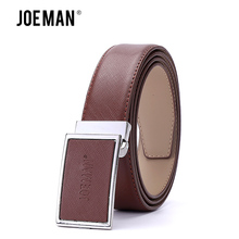 JOEMAN 2017 Newest Men Leather Plate Buckle Belt Luxury Cowhide Genuine Leather Belts For Men With High Quality Free Shipping