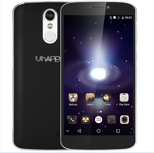 Original Uhappy UP350 4G Phablet Android 6.0 5.5 inch MTK6737 Quad Core 1.3GHz 2GB RAM 16GB ROM Fingerprint Scanner Dual Cameras