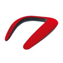 עם מיקרופון מתנה נטענת U בצורת Protable Bluetooth רמקול אלחוטי צוואר תליית ספורט לביש עמיד למים 5D סטריאו