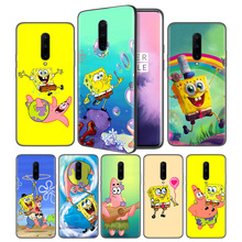 SpongeBob Patrick Star Soft Black Silicone Case Cover for OnePlus 6 6T 7 Pro 5G Ultra-thin TPU Phone Back Protective
