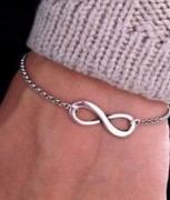 hot trendy silver/ gold color 8 design bracelet infinity shape sideways charm Bracelets ,free shipping