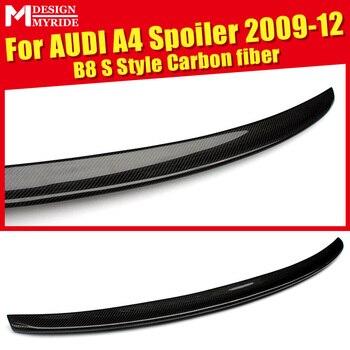 Per Audi A4 A4a A4Q di Alta Qualità Posteriore Spoiler Posteriore B8 S-Style Coupe Posteriore In Fibra di Carbonio Tronco Spoiler Posteriore ala car styling 09-12